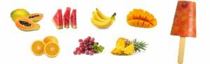 Helados de pulpas de frutas tropicales