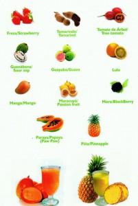 Pulpas de fruta congelada